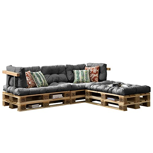 Wohnzimmer Sofa Mit Kissen - [en.casa] Euro Paletten-Sofa - DIY Möbel