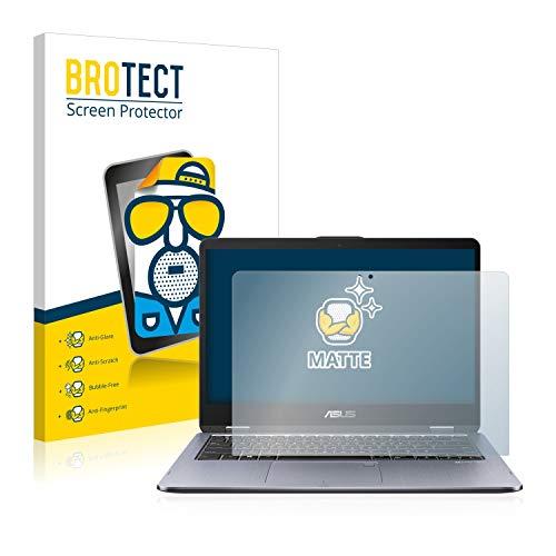 BROTECT Entspiegelungs-Schutzfolie kompatibel mit Asus VivoBook Flip 14 TP410UA (1 Stück) - Anti-Reflex, Matt