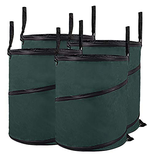 #WOLTU® 4X Gartensack 160L Abfallsack Pop Up Selbstaufstellend Laubsack Gartenabfälle Sack Oxford 600D Polyester Gartentasche GZA1220gnQ4#