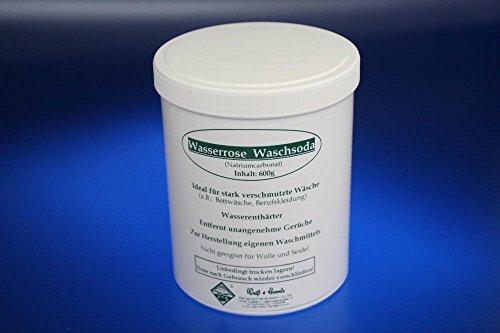 Cleanser Zum Reinigen (Wasserrose® 600 g SODA WASCHSODA ALLZWECKREINIGER ALLESKÖNNER PULVER ZUM AUFLÖSEN POLSTERREINIGER MADE IN GERMANY)