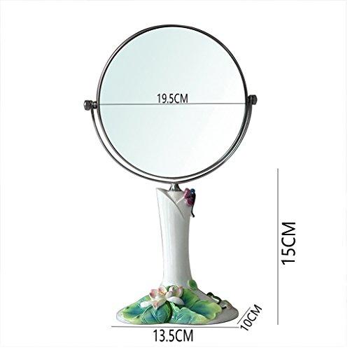 GLN specchio 8 pollici Make-up doppia faccia specchio specchio Desktop Mirror Desktop specchio di bellezza semplice ad alta definizione Make-up controsoffitto Specchio
