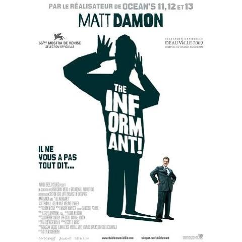 Il francese Informant Movie Poster!, 69 x 102 cm Matt Damon Melaine Lynskey Frank Welker Clancy Scott Bakula Patton Oswalt, colore: marrone