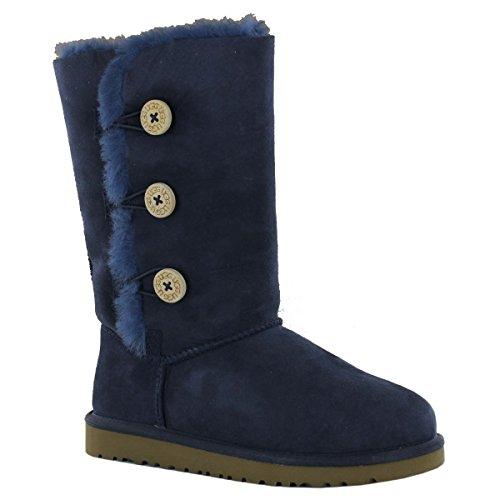 ugg-australia-bailey-button-triplet-navy-kids-boots-size-30-eu