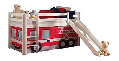 *VIPACK PICOHSGB1470 Spielbett Pino mit Rutsche und Textilset*