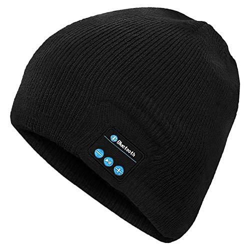 Auricular Bluetooth, Gorro Bluetooth Unisex con Audífono Inalámbrico, Bluetooth Beanie Compatible con Música y Llamadas, Recargable, Regalos Originales para Hombre