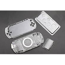 Gotor® Frontblende Oberschale Faceplate Rückseite Back Cover Klar Crystal Shell Case für PSP 1000 (Transparent)