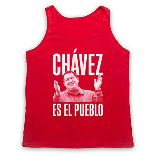 Hugo Chavez Es El Pueblo Tank-Top Weste Rot