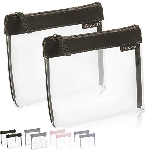 umatter ® 2er Set Flugzeugbeutel, Kulturbeutel transparent für Flüssigkeiten im Handgepäck, durchsichtige Kulturtasche, 1 Liter Reiseset, Kosmetiktasche, die Reisetasche ist Ideal für die Flugreise -