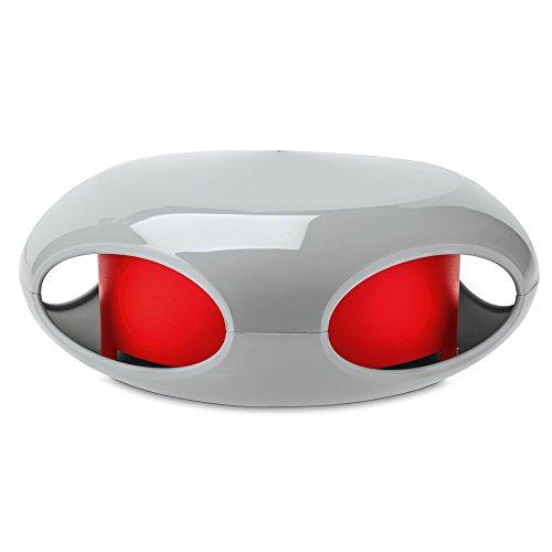 Preisvergleich Produktbild koziol Vogelfutterhaus [pi:p],  Kunststoff,  cool Gray mit Himbeer rot,  11, 2 x 27, 7 x 26, 5 cm