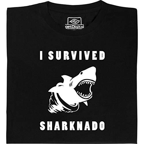 Sharknado - Geek Shirt für Computerfreaks aus fair gehandelter Bio-Baumwolle, Größe XL