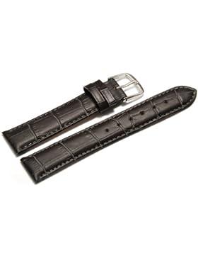 Uhrenarmband - Orig. Watchband Berlin - Kroko Prägung - dunkelgrau - 18mm