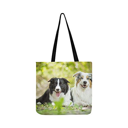 Canvas Tote Handtasche Schultertasche Crossbody Taschen Geldbörsen für Männer und Frauen Einkaufstasche -