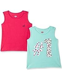 Amazon Brand - Jam & Honey Girl's Tribal Regular fit T-Shirt (Pack of 2)