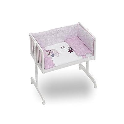 Minicuna Colecho Coordinado Volamos Baby Rosa