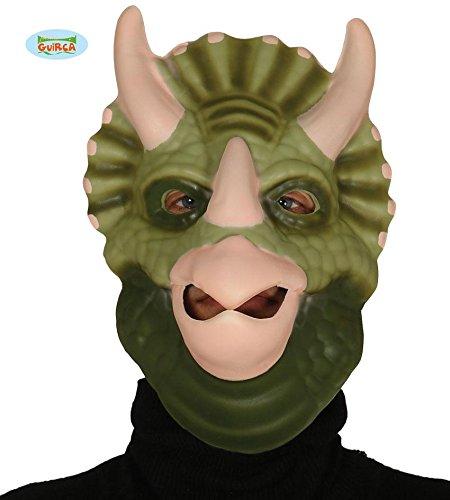 Triceratops Dinosaurier Halbmaske soft Tiermaske Fasching Urzeit (Für Erwachsene Triceratops Kostüm)
