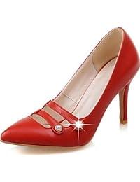 GGX/ Zapatos de mujer-Tacón Stiletto-Confort / Punta Redonda-Tacones-Boda / Vestido-PU-Rojo / Plata , red-us8.5 / eu39 / uk6.5 / cn40 , red-us8.5 / eu39 / uk6.5 / cn40