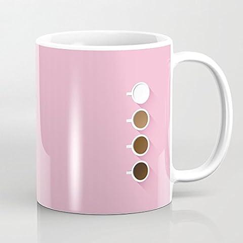 quadngaagd Café Simplicity 11-Ounce Mug Tasse à Café Tasse à thé Blanc
