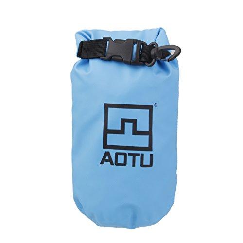 1.5l Wasserdichte Packsack Beutel Für Camping Bootfahren Angeln Rafting Blau (Kajak Trinken Zubehör)