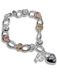 a878f5a85a0b enez – Pulsera de cadena de plata de ley 925 Gallay joyas 20 cm ...