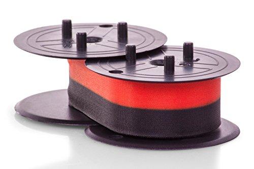 Inkadoo Farbbänder passend für Triumph-Adler 121 PD Plus kompatibel zu Canon EP102, EP-102 4202A002, 4202A002AA - Premium Nylonband Alternativ - Schwarz, Rot