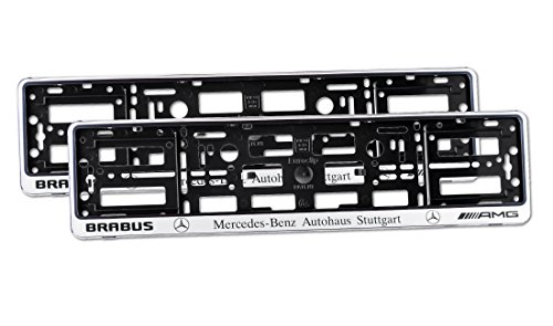 2-x-number-plate-holders-silver-finish-car-registration-surrounds-front-rear-frames-for-mercedes-bra