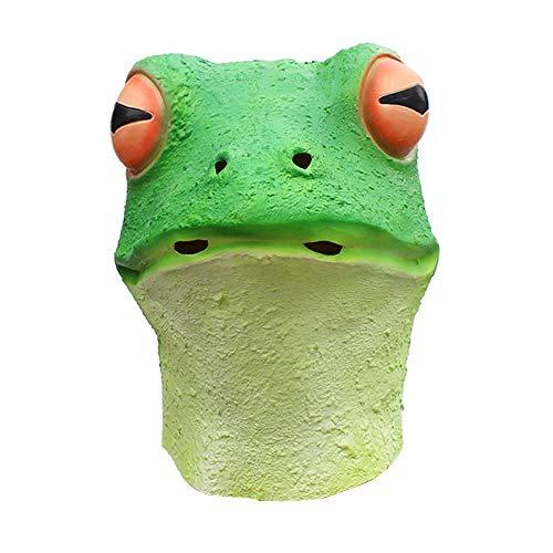 Frosch Maske Neuheit Halloween Kostüm Party Tier Kröte Maske Latex Helm Ghost Festival Maskerade Rollenspiele Niedliche Cartoon (Für Erwachsene Kröte Kostüm)