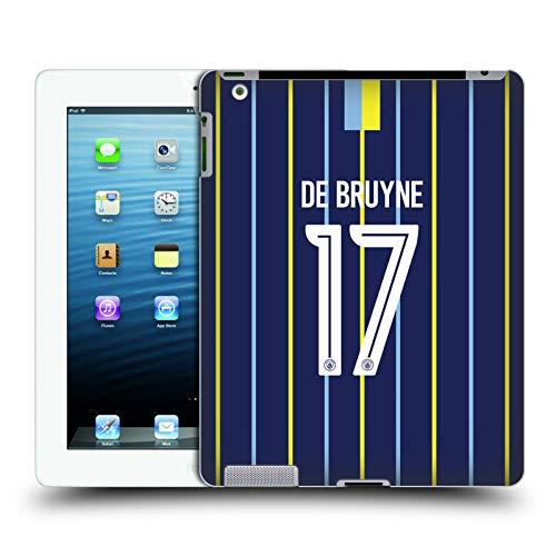 Head Case Designs Offizielle Manchester City Man City FC Kevin De Bruyne 2018/19 Spieler Away Kit Gruppe 1 Harte Rueckseiten Huelle kompatibel mit iPad 3 / iPad 4 -
