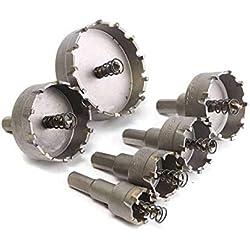 Comomingo 6 Pcs HSS Tronçonneuse Set Carbure Astuce TCT Core Foret Scie Trépan Pour Alliage En Acier Inoxydable Cutter Outil Électrique Accessoires