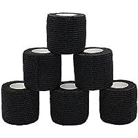 Fuluning Sport-Tape, 6er-Pack, 5cm x 4,5 m, selbsthaftendes Bandageband für Handgelenk und Knöchel, Verstauchungen... preisvergleich bei billige-tabletten.eu