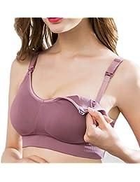 16767bfffa Ueither Sujetador de Maternidad para Mujer Nursing Bras para Lactancia y  Embarazo Sin Aros y Costuras
