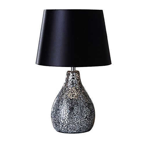 Modern Ava Crackle Mosaic Table Lamp - Black for sale  Delivered anywhere in UK
