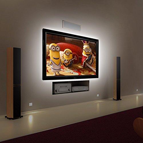 Kohree 2M USB LED TV Hintergrundbeleuchtung Bias Beleuchtung für HDTV, USB LED Streifen für Flachbildschirm TV LCD, Desktop PC, Hellweiß