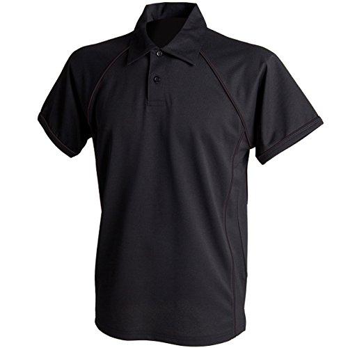Finden & Hales Herren Sport Polo-Shirt Mehrfarbig - Black/black