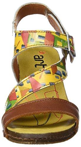 ART 0211 Fantasy i Feel, Sandali con Cinturino alla Caviglia Donna Multicolore (City)