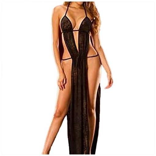 Gonna-lunga-Backless-sexy-lingerie-Mamum-biancheria-intima-sexy-lingerie-babydoll-pigiama-vestito-lungo-notte-slip