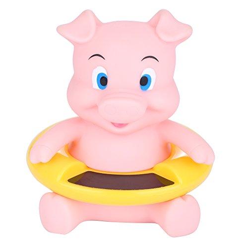 Zerodis Baby Badethermometer Wasserthermometer Tiere Schwimmende Badewanne Spielzeug Wasser Temperatur Tester für Neugeborene Kinder(Rosa, Schwein)