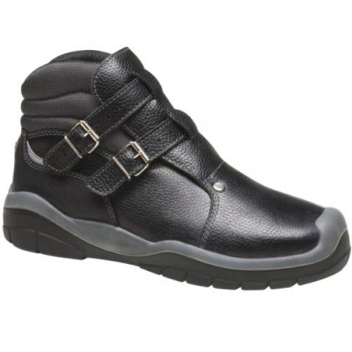 Majo Dachdecker Stiefel S3 Schnallenstiefel 5203 43 Schwarz Schwarz