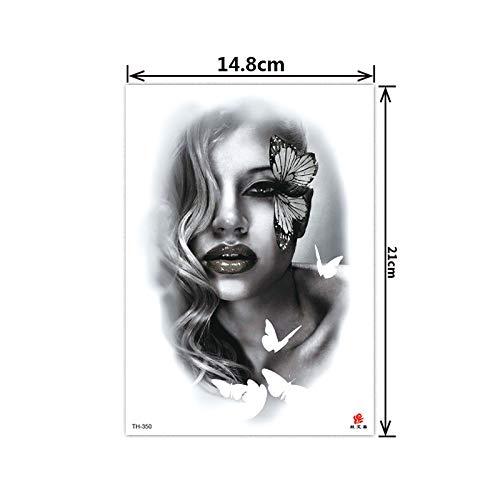 tzxdbh 5Pcs- Fiore Tatuaggio Adesivi Braccio Impermeabile ed Ecologico Fiore Braccio Mezzo Braccio Tatuaggio Spot TH-350 5Pcs