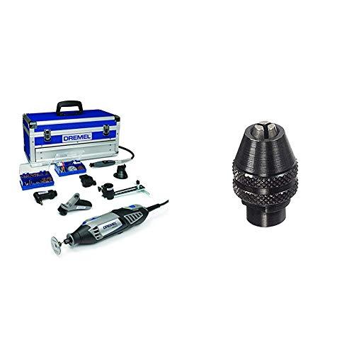 Dremel 4486 - Portabrocas de cierre rápido (0.8 mm a 3.4 mm) + Dremel Platinum Edition 4000-6/128 - Multiherramienta (175 W, 6 complementos, 128 accesorios)