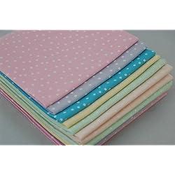 The Craft algodón 18 x 55,88 cm 6 Piezas Fat Pastel Juego de Lunares de Tela