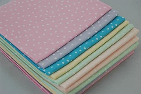 The Craft Cotton 18 x 22-Inch 6-Piece Fat Quarter Pastel Spotty Fabric Bundle - Quarter Fat Fq Bundle