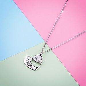 Doppio cuore Monther e Daugter 100% in argento Sterling S925Nekcklace gioielli per mamma Love Best gift