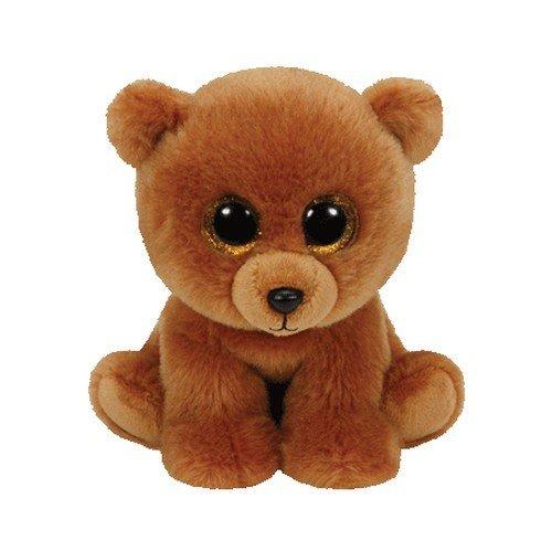 TY 42109 - Brownie - Braunbär mit Glitzeraugen, Plüschtier, 15 cm (Baby Bär Ty Beanie)