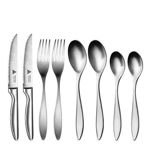 FGDJTYYJ 4 Teile/Satz Geschirr Set Stahl Besteck Qualität Geschirr Messer Gabeln Esszimmer Abendessen Set Westlichen Essen