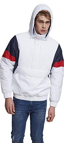 Preisvergleich Produktbild Urban Classics Herren Jacke 3 Tone Pull Over Jacket,  Mehrfarbig (White / Navy / Fire Red 01244),  Small