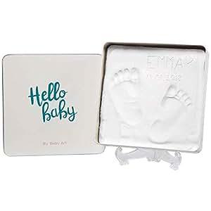 Baby Art - Magic Box, Eckig, Essentials, Elegante Geschenk-Box mit Gipsabdruck zum Selbermachen für Baby Füßchen oder Händchen