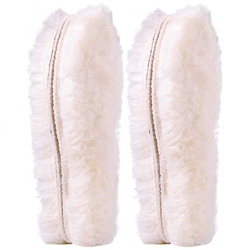 [ 2 Paar ]Australischen Schaffell Einlegesohlen Super Dick Premium fur Stiefel Schuhe| Robust & Extra flauschige Premium Schafwolle Einlegesohlen ([ 2 Paar ]EU 40) (Echtem Schaffell)