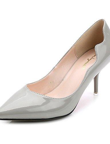 WSS 2016 Chaussures Femme-Décontracté-Noir / Bleu / Gris / Bordeaux-Kitten Heel-Bout Pointu-Chaussures à Talons-Polyuréthane blue-us6 / eu36 / uk4 / cn36