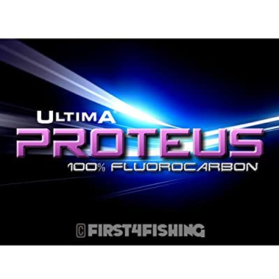 Ultima Proteus Fluorocarbon Snood Link 50m Spools - Bass Sea Fishing Line Tackle by First4Fishing