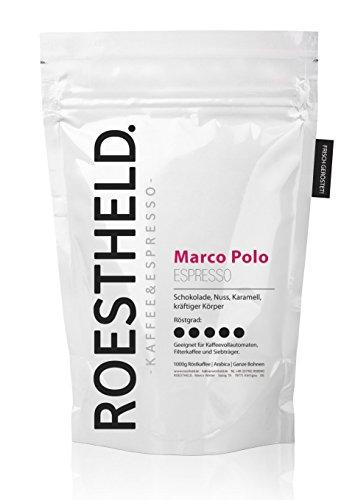 Marco Polo Espresso - 80% Arabica und 20% Robusta - Ganze Bohnen (1000g)